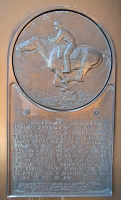 Pony Express Marker image. Click for full size.
