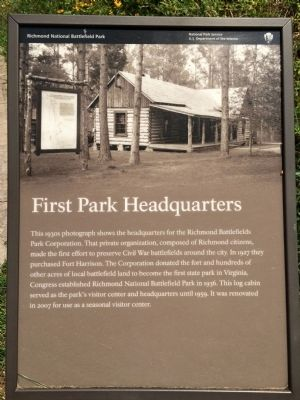 First Park Headquarters Marker image. Click for full size.