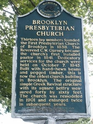 Brooklyn Presbyterian Church Marker image. Click for full size.
