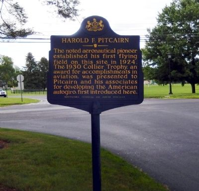 Harold F. Pitcairn Marker image. Click for full size.