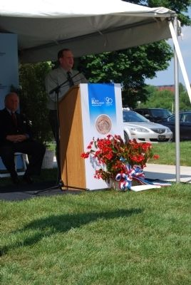 Pennsylvania National Guard Marker Dedication image. Click for full size.