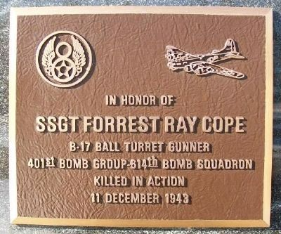SSgt Forrest Ray Cope Marker image. Click for full size.