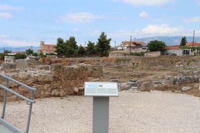 Saint Paul in Corinth and the Bema of the Roman Forum Marker image. Click for full size.