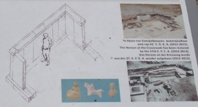 The Heroon at the Crossroads: an early sanctuary of Ancient Corinth Marker image. Click for full size.