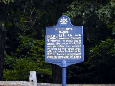 Pottsgrove Manor Marker image. Click for full size.