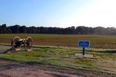 View towards Union and Confederate Positions on Fourteenmile Creek image. Click for full size.