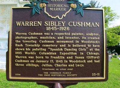 Warren Sibley Cushman 1845- 1926 Marker image. Click for full size.
