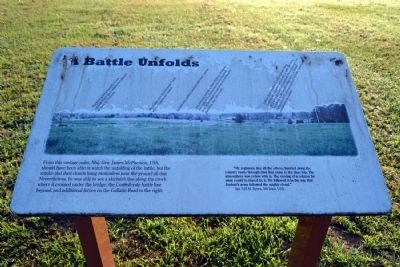 A Battle Unfolds Marker image. Click for full size.