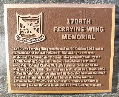 1708th Ferrying Wing Marker image. Click for full size.
