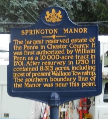 Springton Manor Marker image. Click for full size.