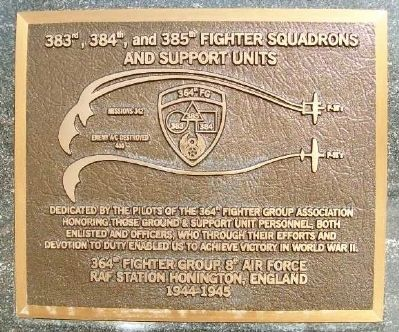 383rd, 384th, and 385th Fighter Squadrons Marker image. Click for full size.