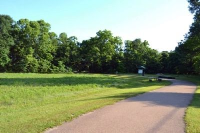 Raymond Military Park Walking Trail and Exhibit Kiosk image. Click for full size.