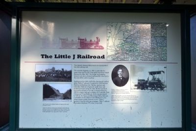 The Little J Railroad Marker image. Click for full size.