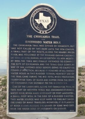 The Chihuahua Trail and Escondido Water Hole Marker image. Click for full size.