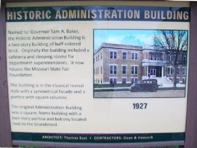 Historic Administration Building Marker image. Click for full size.