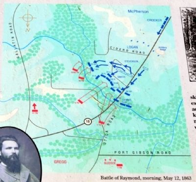 Battle of Raymond, morning, May 12, 1863 image. Click for full size.