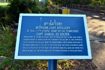 U.S. 8th Battery, Michigan Light Artillery Marker image. Click for full size.