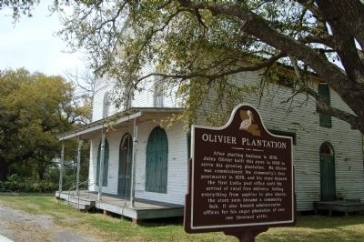 Olivier Plantation Marker and Plantation Store. image. Click for full size.