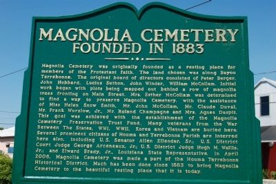 Magnolia Cemetery Marker image. Click for full size.
