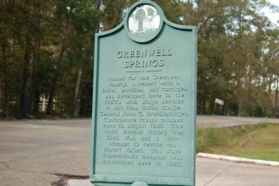Greenwell Springs Marker image. Click for full size.