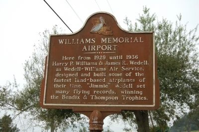 Williams Memorial Airport Marker image. Click for full size.