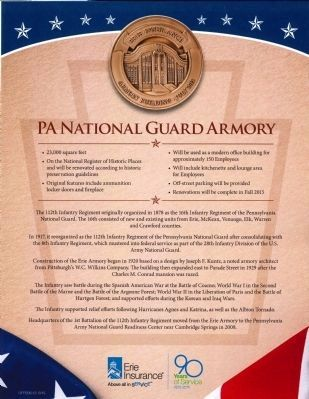 Pennsylvania National Guard Armory Information image. Click for full size.