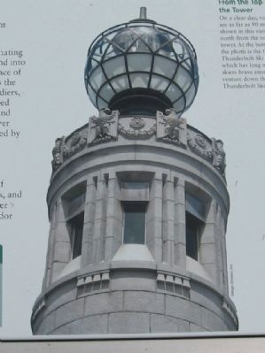 The Top of the War Memorial Tower image. Click for full size.