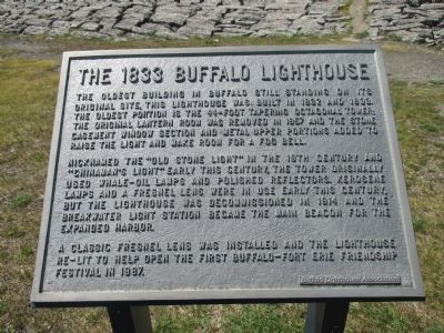 The 1833 Buffalo Lighthouse Marker image. Click for full size.