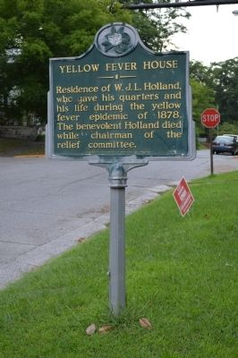 Yellow Fever House Marker image. Click for full size.