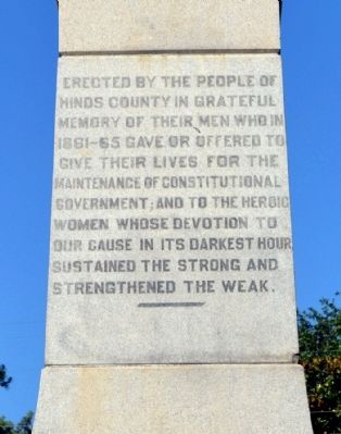 Inscription on Rear Side of Memorial image. Click for full size.