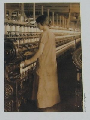 14-year Old Textile Worker in Berkshire Mills image. Click for full size.