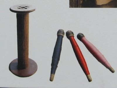 A Spool and Bobbins from Berkshire Mills image. Click for full size.