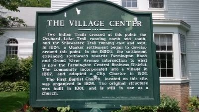 The Village Center Marker image. Click for full size.