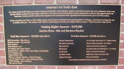 The Trail's End Project Donors Marker image. Click for full size.