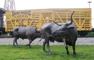 The Trail's End Project Longhorns and Cattle Car image. Click for full size.