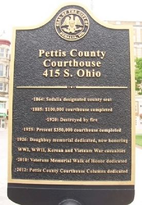Pettis County Courthouse Marker image. Click for full size.