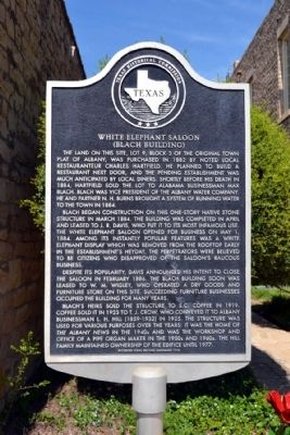 White Elephant Saloon Marker image. Click for full size.