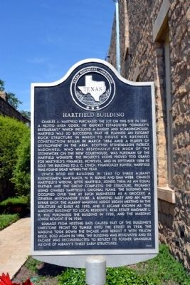 Hartfield Building Marker image. Click for full size.