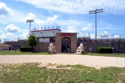 Entrance to Robert Nail Memorial Stadium image. Click for full size.