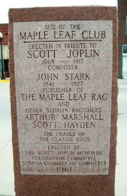 Site of the Maple Leaf Club Marker image. Click for full size.