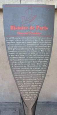 Place du Trocadero Marker image. Click for full size.