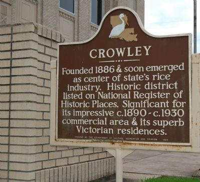Crowley Marker image. Click for full size.