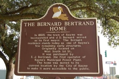 The Bernard Bertrand Home Marker image. Click for full size.