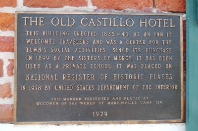 The Old Castillo Hotel Marker image. Click for full size.