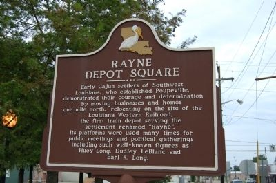 Rayne Depot Square Marker image. Click for full size.