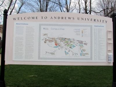 Welcome to Andrews University image. Click for full size.