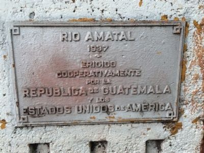 Amatal River Bridge Marker image. Click for full size.
