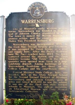 Warrensburg Marker (front) image. Click for full size.