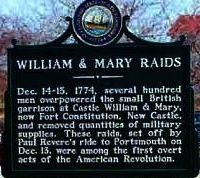 William and Mary Raids Marker image. Click for full size.