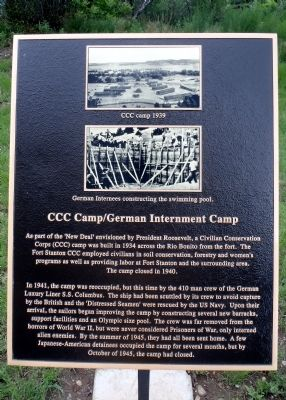 CCC Camp/German Interment Camp Marker image. Click for full size.